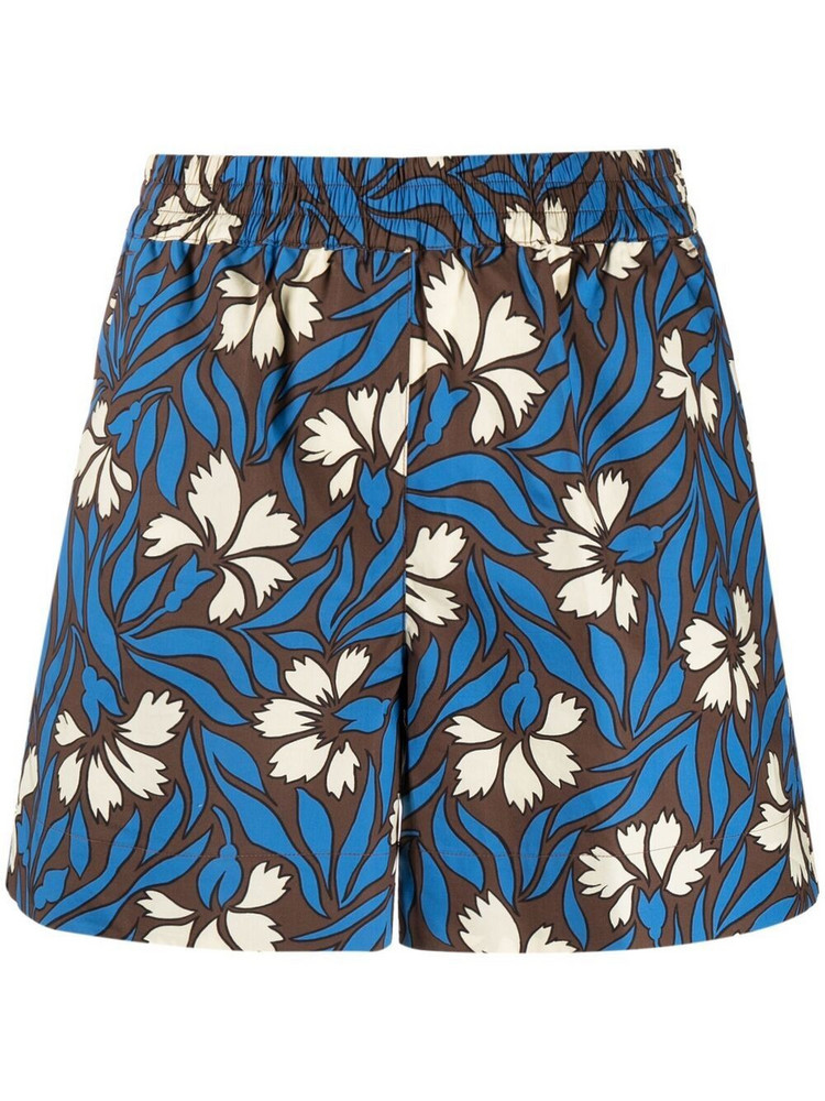 P.A.R.O.S.H. P.A.R.O.S.H. floral-print shorts - Blue