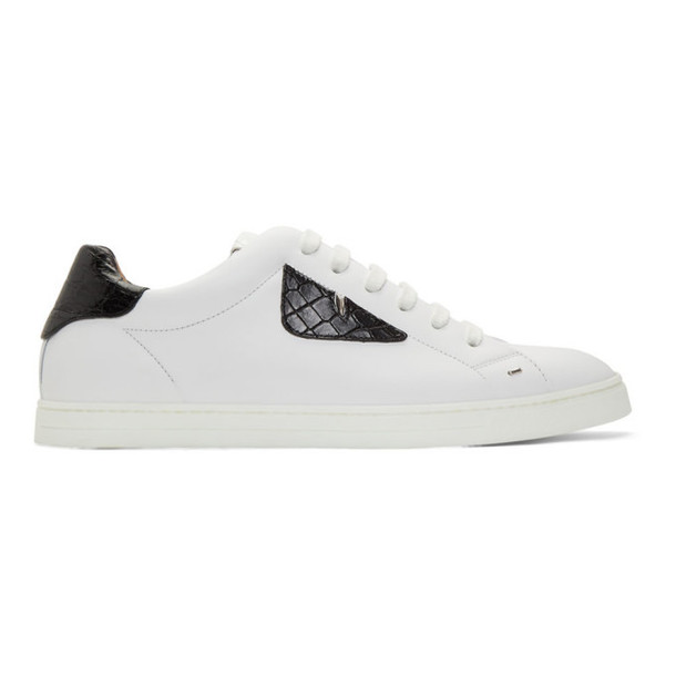Fendi White 'Bag Bugs' Sneakers