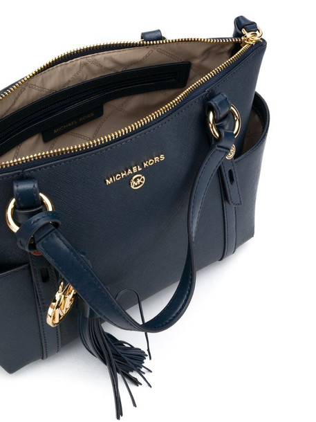 Michael Michael Kors Nomad tassel detail small tote bag in blue