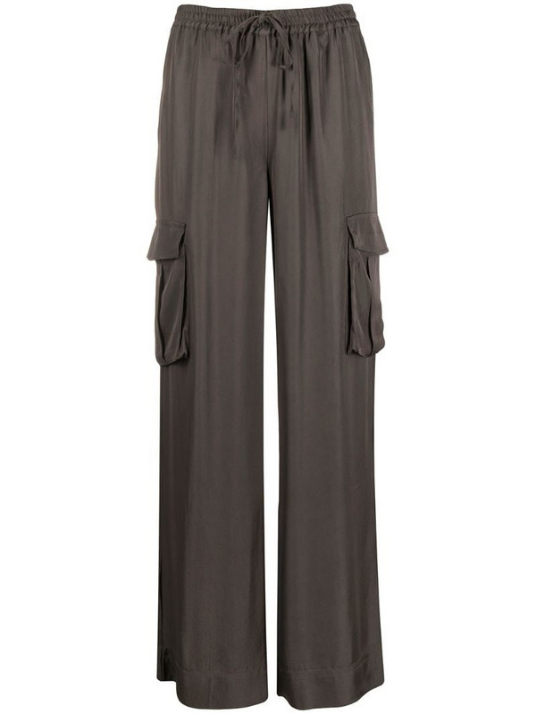 P.A.R.O.S.H. drawstring waist trousers in green