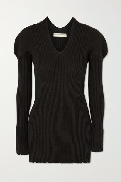 Bottega Veneta - Ribbed Wool Sweater - Charcoal