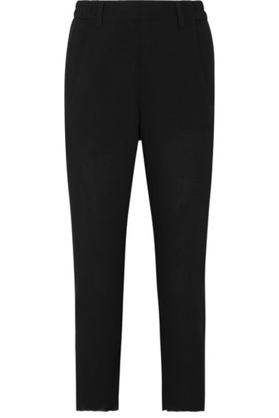 Ann Demeulemeester - Cropped Twill Tapered Pants - Black