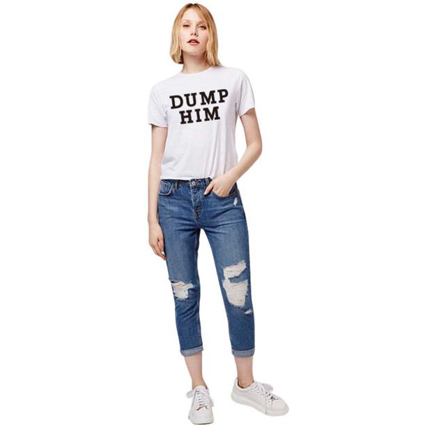 t-shirt summer 2016 white top white t-shirt white shirt women tshirts women t-shirt harajuku crop tops tshirt women tumblr shirt tee shirt femme brand funny t-shirt couple t-shirts dump him casual t-shirts curvy