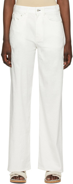 rag & bone White Linen Logan Jeans