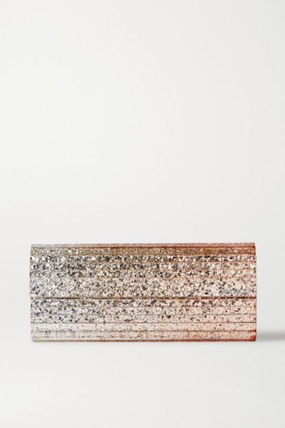 Jimmy Choo - Sweetie Glittered Acrylic Clutch - Silver
