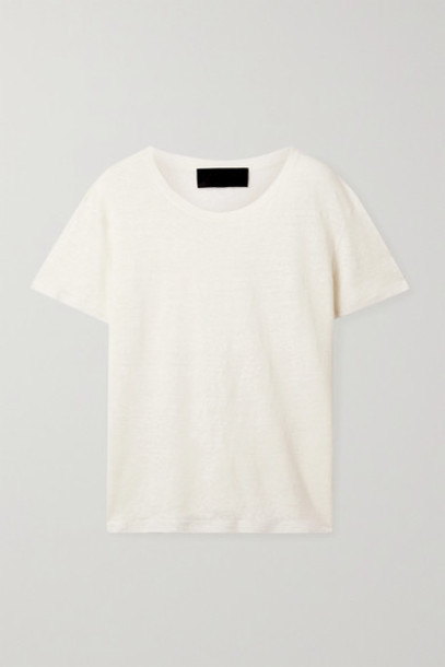 Nili Lotan - Irving Linen T-shirt - Cream
