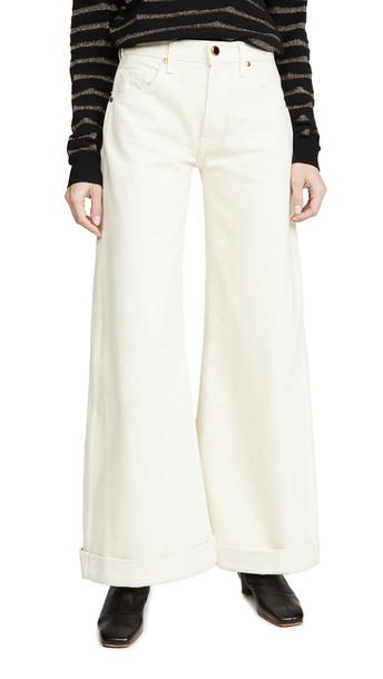 Khaite Noelle Jeans in ivory