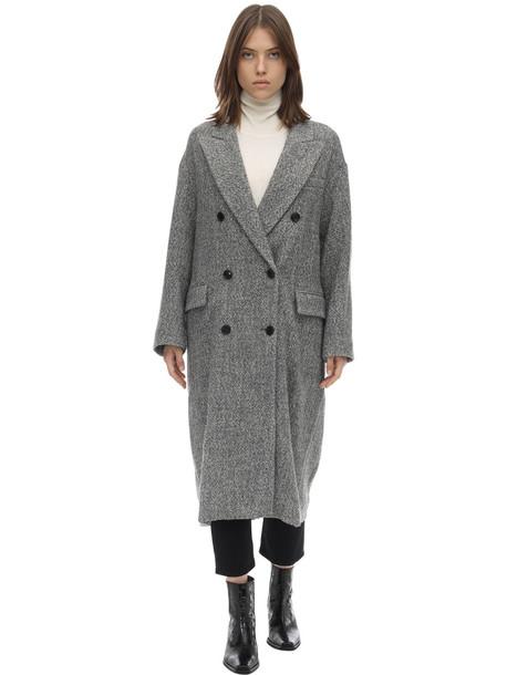 ISABEL MARANT ÉTOILE Habra Wool Blend Coat in grey