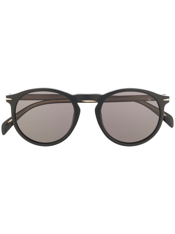 Eyewear by David Beckham round frame sunglasses in black