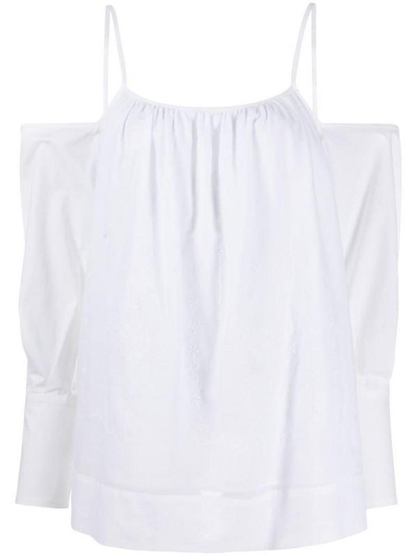 Erika Cavallini off the shoulder cotton top in white