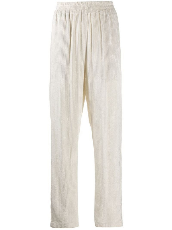 Manuel Ritz corduroy straight-leg trouser in neutrals