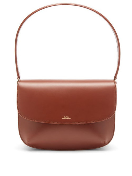A.P.C. A.P.C. - Sarah Smooth-leather Shoulder Bag - Womens - Tan