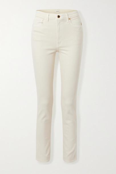 Khaite - Vanessa High-rise Slim-leg Jeans - Ivory