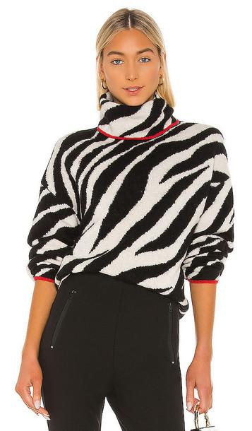 Rag & Bone Kiki Funnel Neck Sweater in Black & White