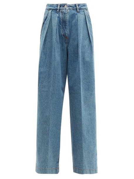 Acne Studios - Pakita High Rise Pleated Wide Leg Jeans - Womens - Denim