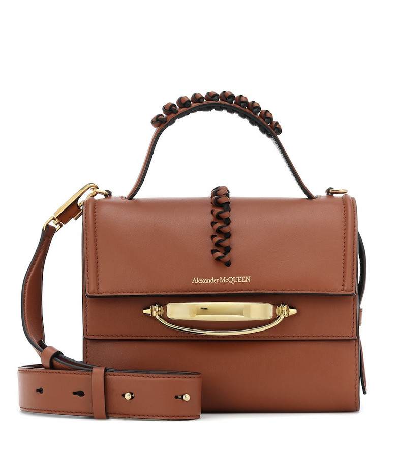 Alexander McQueen The Story leather shoulder bag in brown