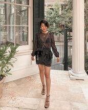 bag,black bag,ysl bag,black sandals,mini dress,zara,long sleeve dress