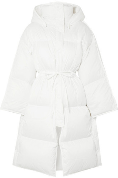 Acne Studios - Ottie Oversized Hooded Quilted Shell Down Coat - White