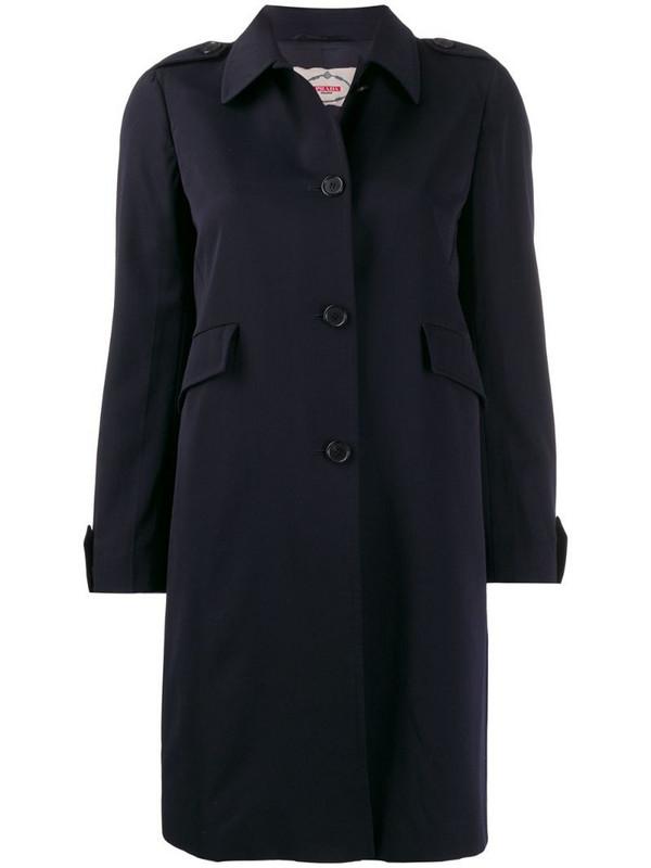 Prada Pre-Owned 1990's trench coat in blue