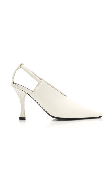 Proenza Schouler Leather Pumps in white