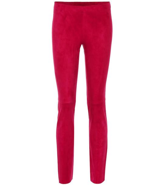 Stouls Jacky suede leggings in pink