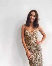 dress,beige dress,leopard print,leopard dress