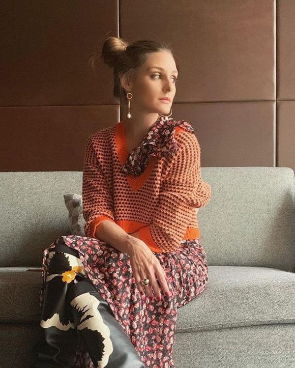 dress olivia palermo blogger fall outfits boots maxi dress