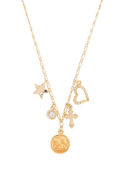 Natalie B Jewelry Angelic Charm Necklace in gold / metallic