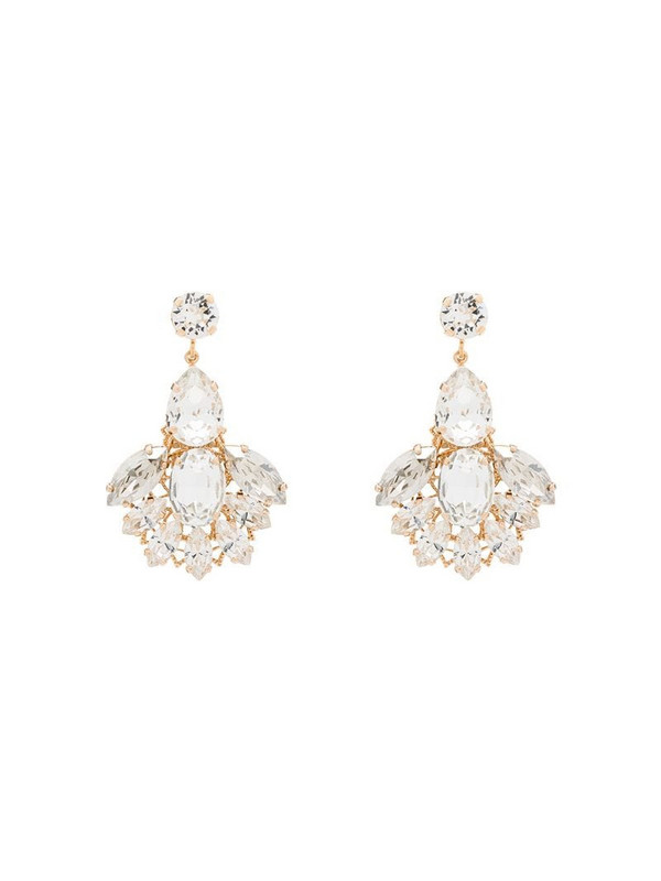Anton Heunis crystal cascade drop earrings in white