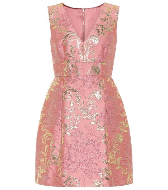 Dolce & Gabbana Brocade lamé minidress in pink