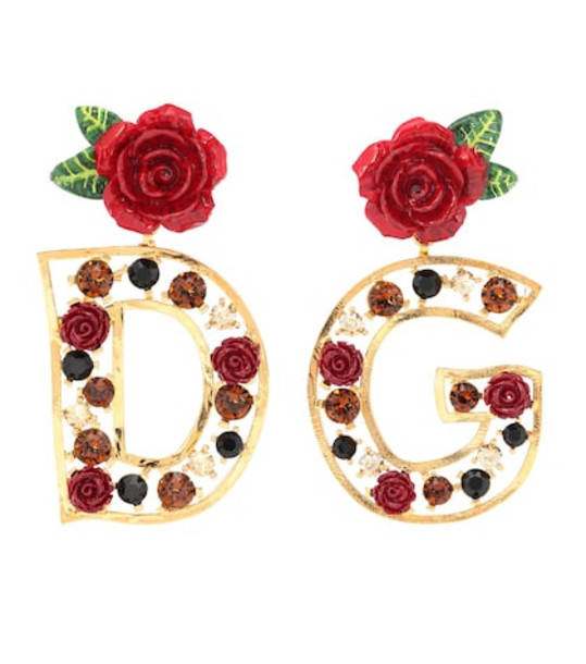 Dolce & Gabbana Crystal-embellished earrings in gold