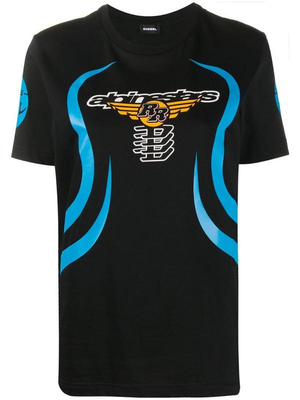 Diesel graphic-print T-shirt in black