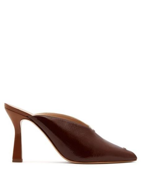 Wandler - Niva Bi Colour Leather Mules - Womens - Brown Multi
