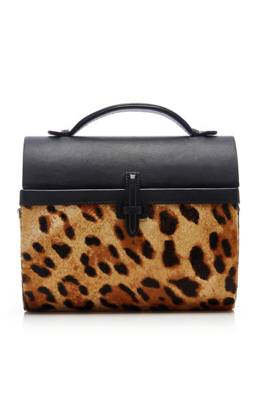 Hunting Season Gigi Leopard-Print Leather Bag