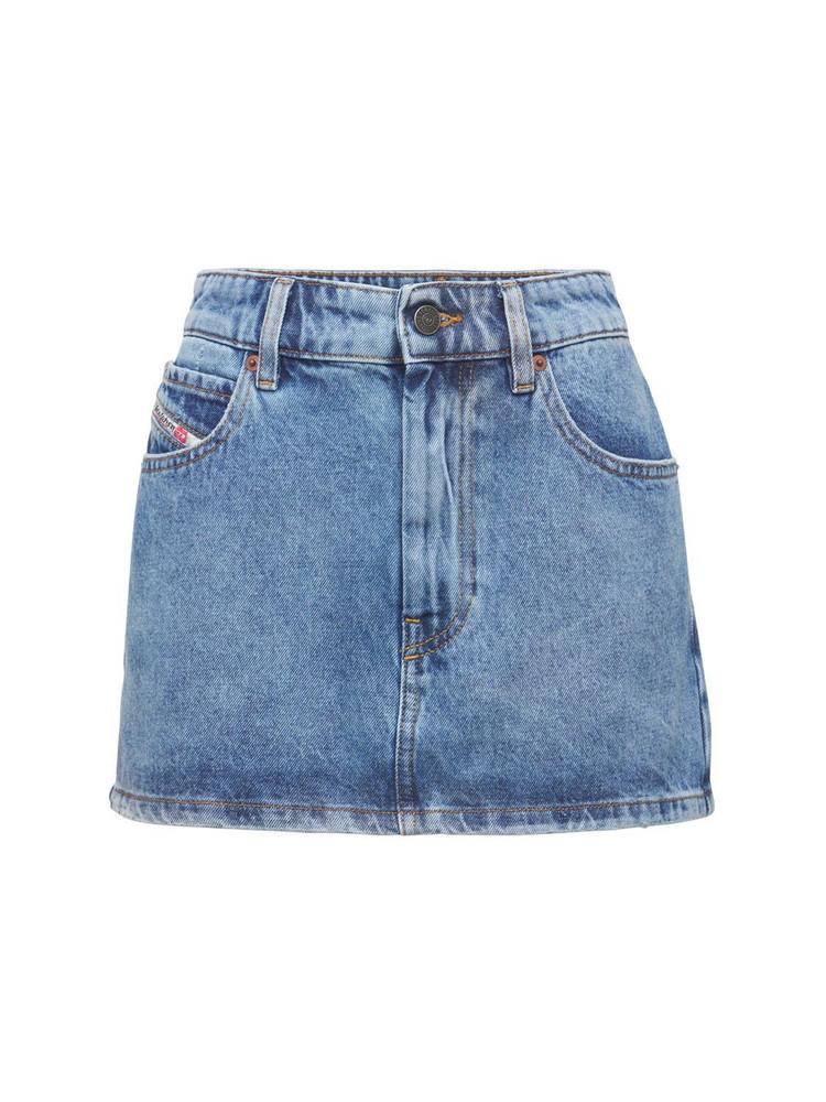 DIESEL Eisy Denim Mini Skirt in blue