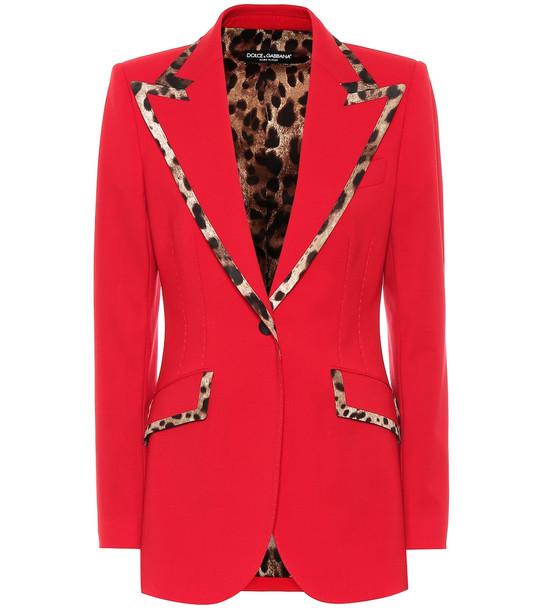 Dolce & Gabbana Virgin wool-blend blazer in red
