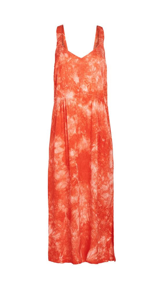 Raquel Allegra Slip Dress in red