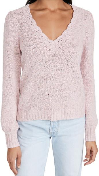 PAIGE Alicia Sweater in pink / multi