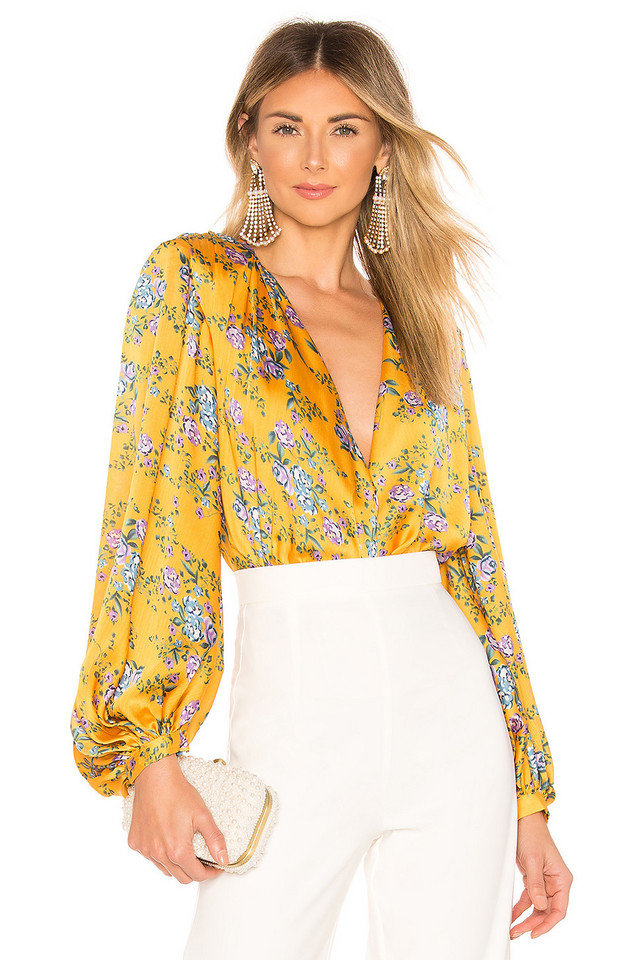 Bronx and Banco Hanna Blouse in yellow