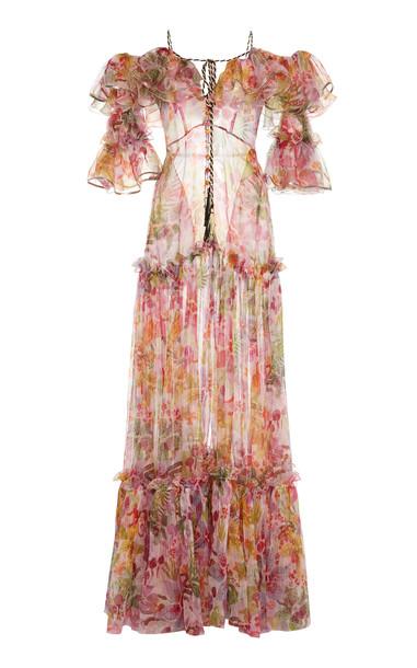 Dundas Floral Off-The-Shoulder Maxi Dress