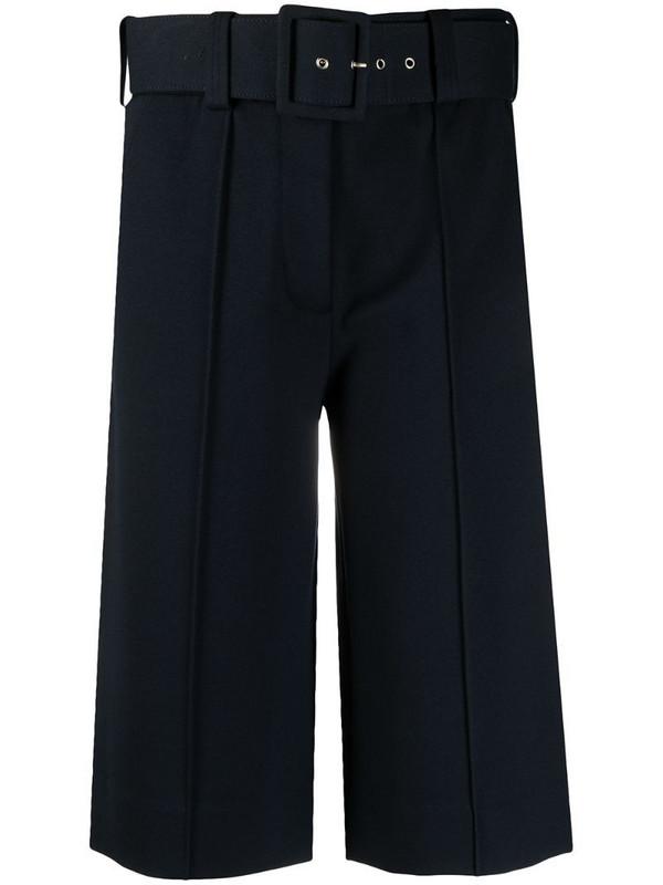 Victoria Victoria Beckham belted oversized shorts in blue