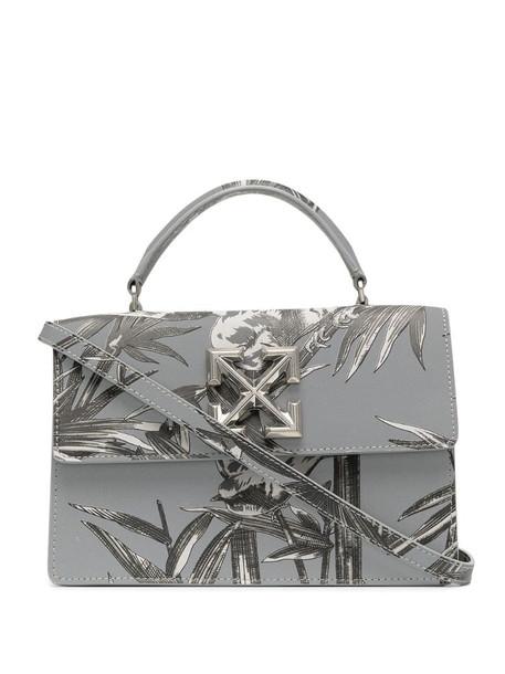 Off-White palm tree pattern crossbody bag in grey