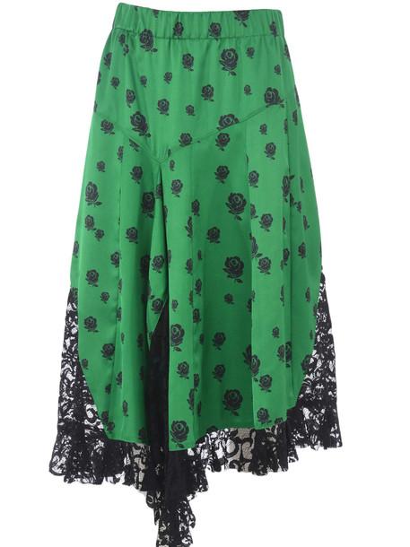 Kenzo Lace Paneled Skirt in nero