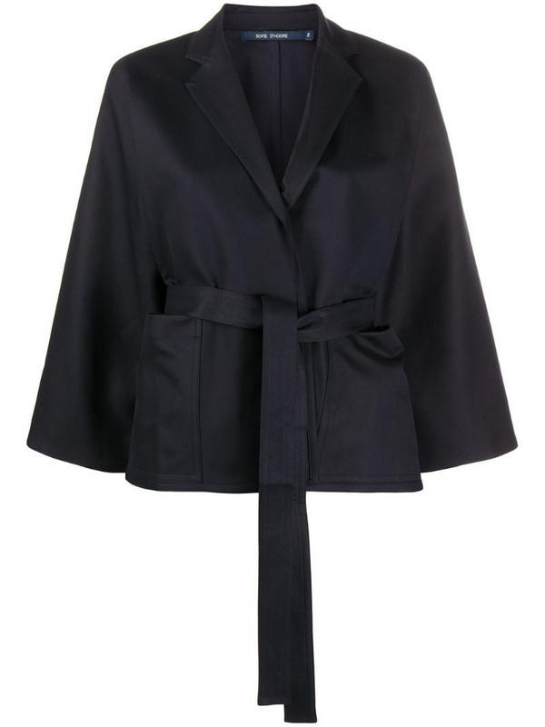 Sofie D'hoore Calder tie-waist jacket in blue