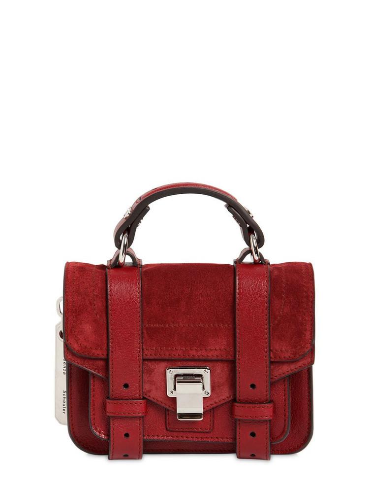 PROENZA SCHOULER Ps1 Micro Suede Top Handle Bag