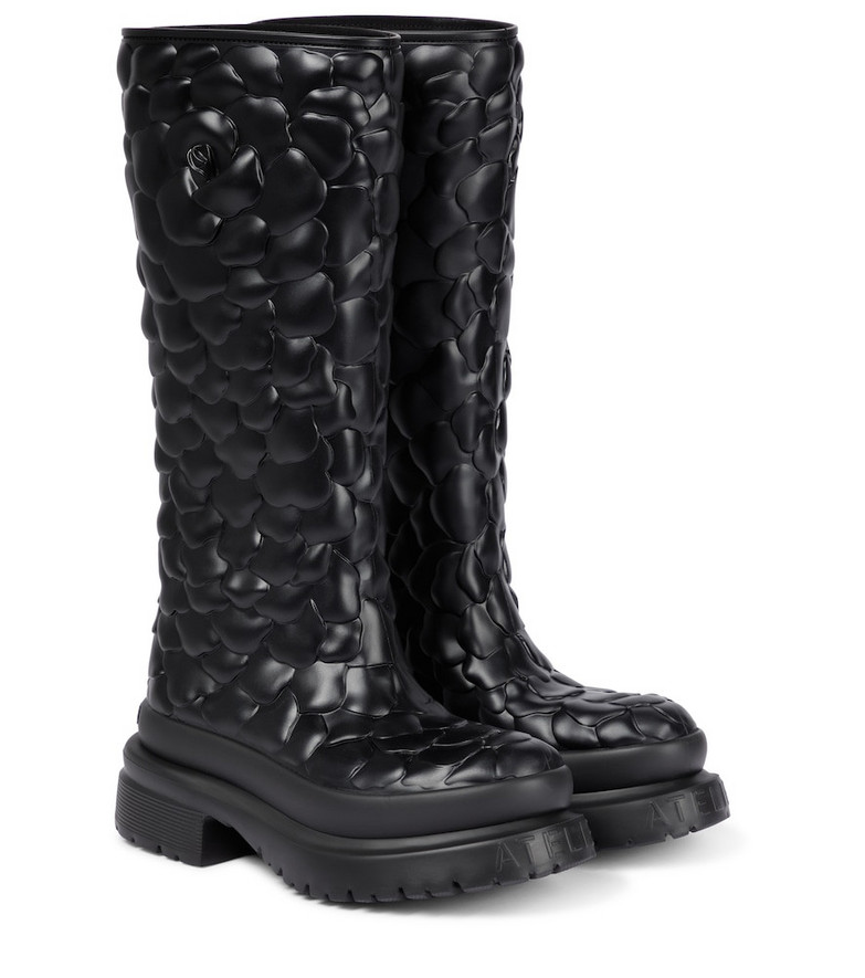 Valentino Garavani Atelier 03 Rose Edition rubber boots in black