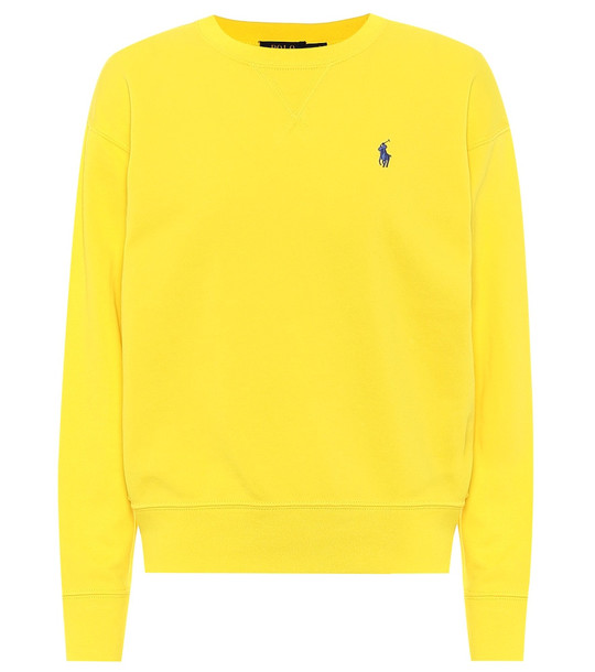 Polo Ralph Lauren Cotton-blend sweatshirt in yellow