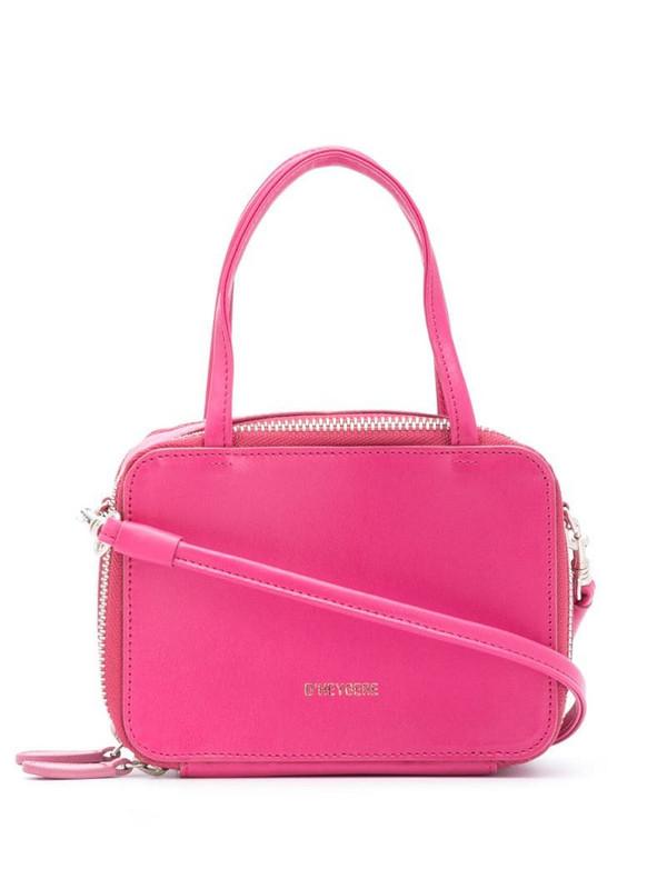 d'heygere double-zip mini tote in pink