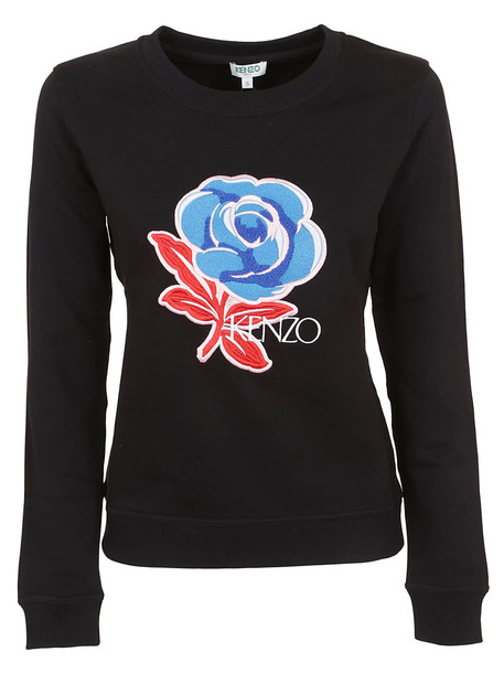 Kenzo Embroidered Sweatshirt in black