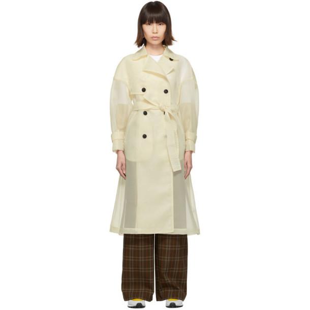 Enfold Beige Organdie Trench Coat